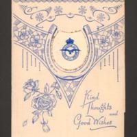 Birthday card to Gladys from Leonard Green